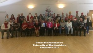 Xmas 2016 - University of Hertfordshire Dance for Parkinsons's